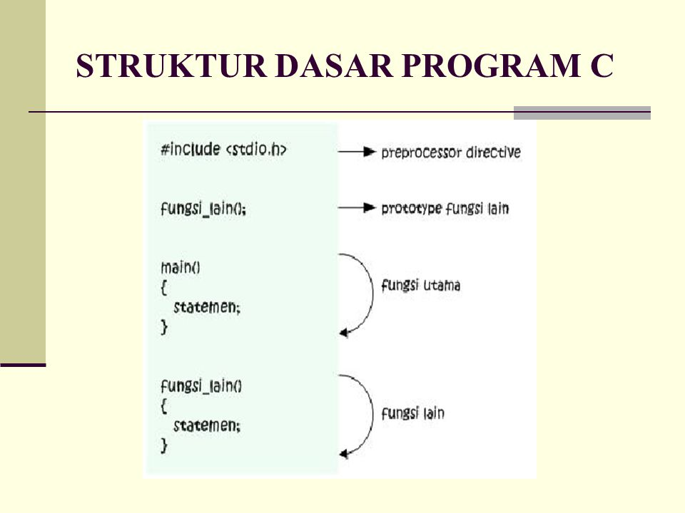 STRUKTUR DASAR PROGRAM C