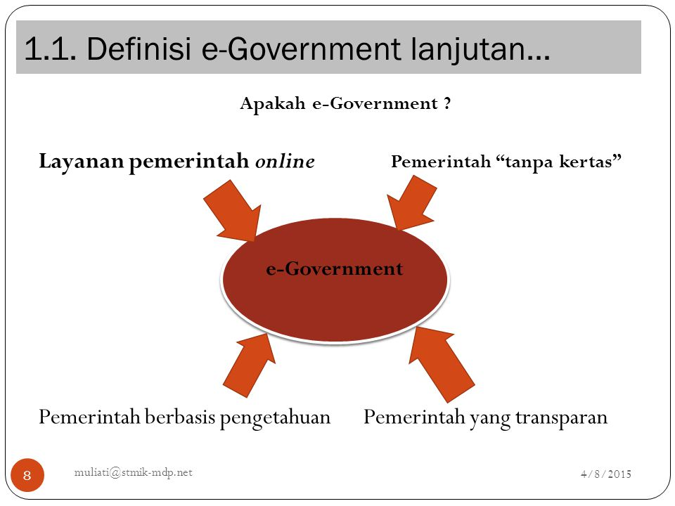 1.1. Definisi e-Government lanjutan…