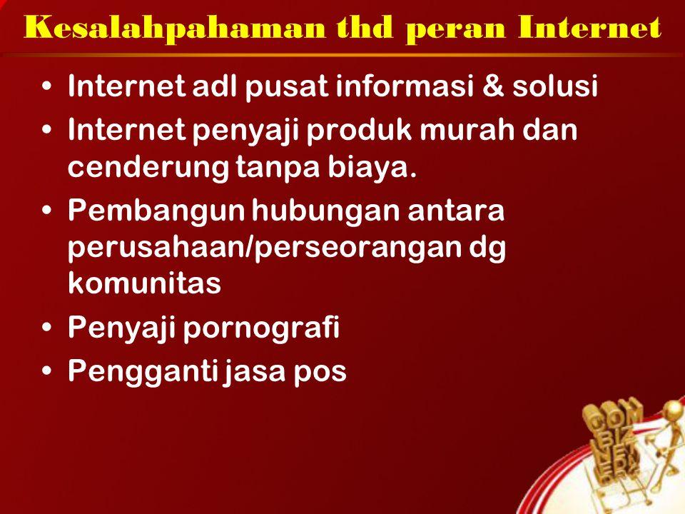 Kesalahpahaman thd peran Internet