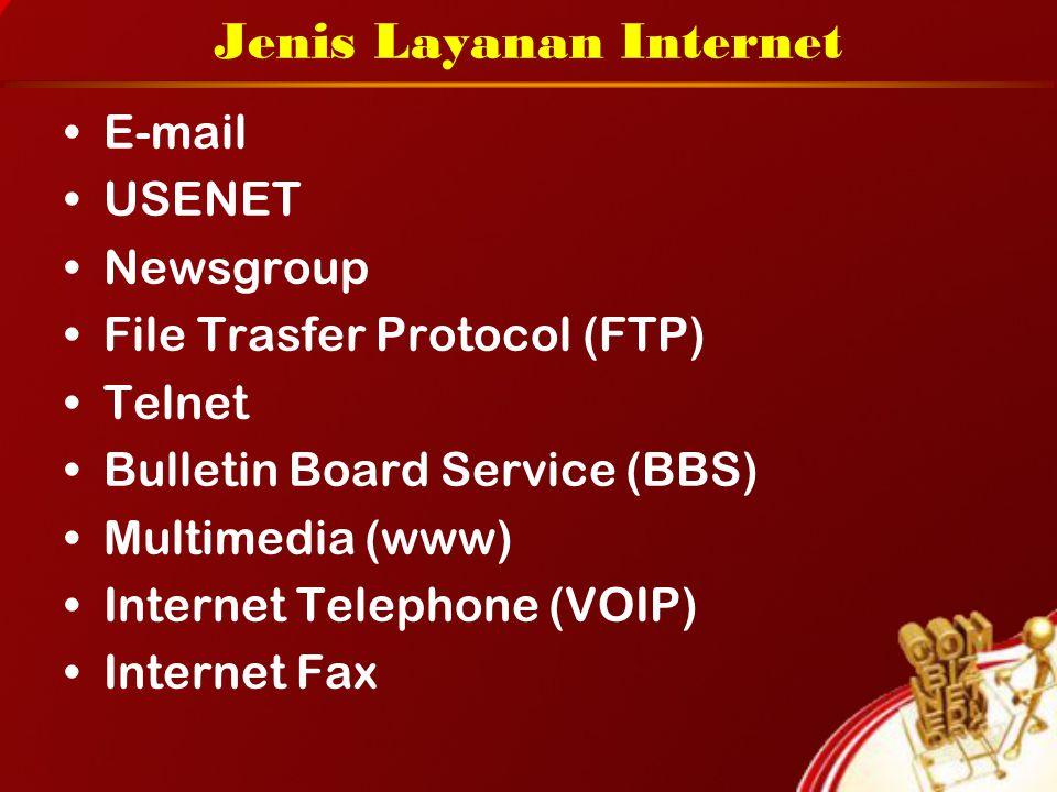 Jenis Layanan Internet