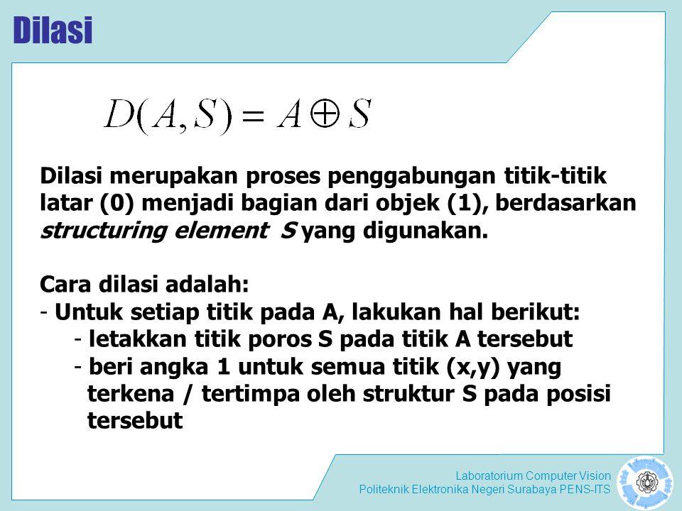 Dilasi Dilasi merupakan proses penggabungan titik-titik