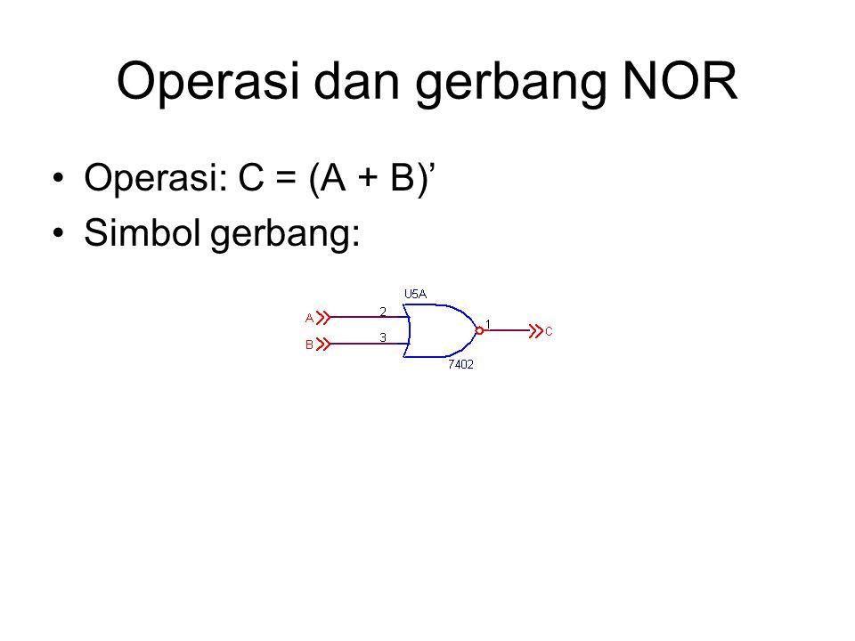 Operasi dan gerbang NOR