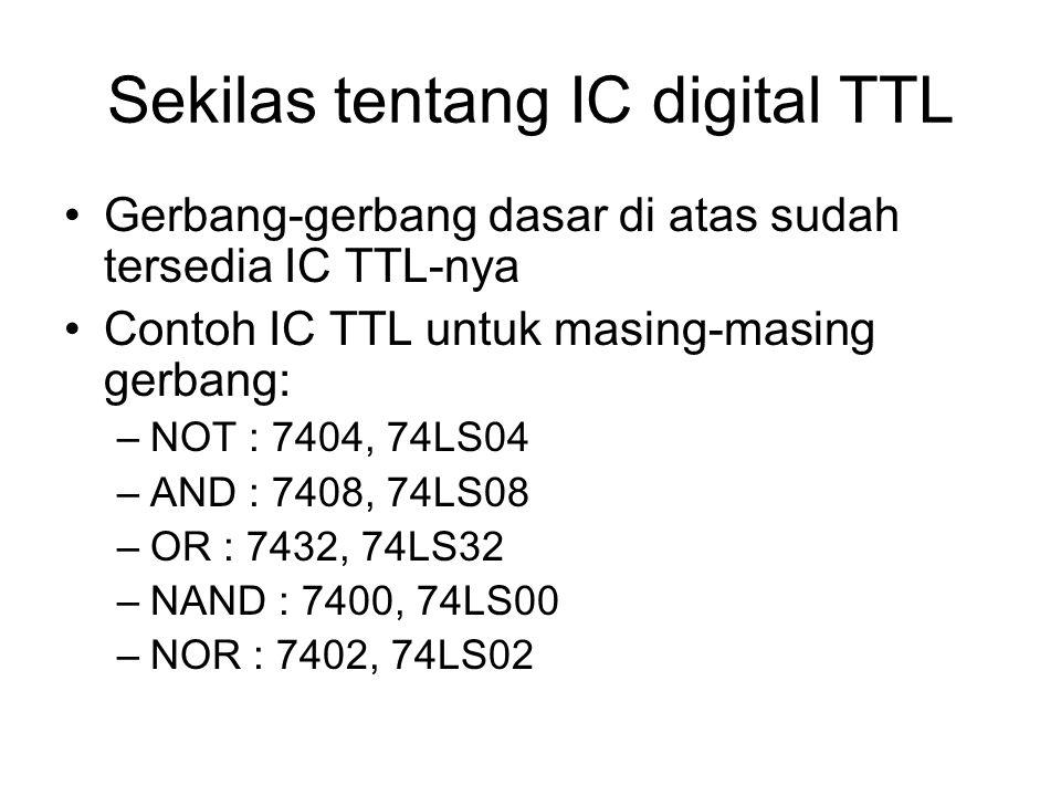 Sekilas tentang IC digital TTL