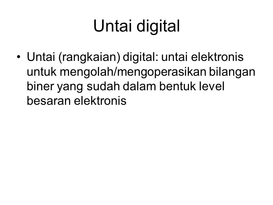 Untai digital