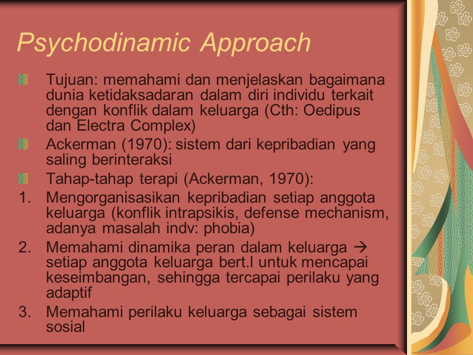 Psychodinamic Approach