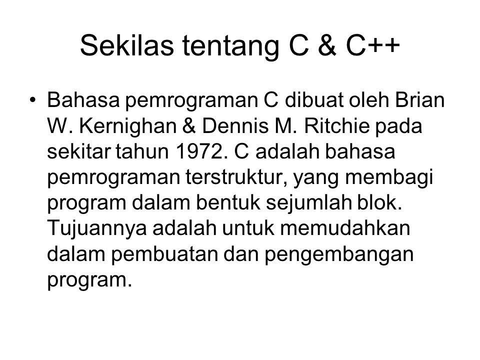 Sekilas tentang C & C++