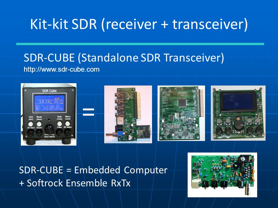 Kit-kit SDR (receiver + transceiver)