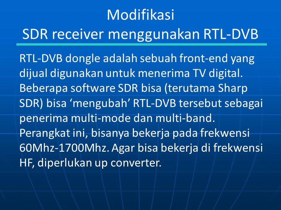 SDR receiver menggunakan RTL-DVB