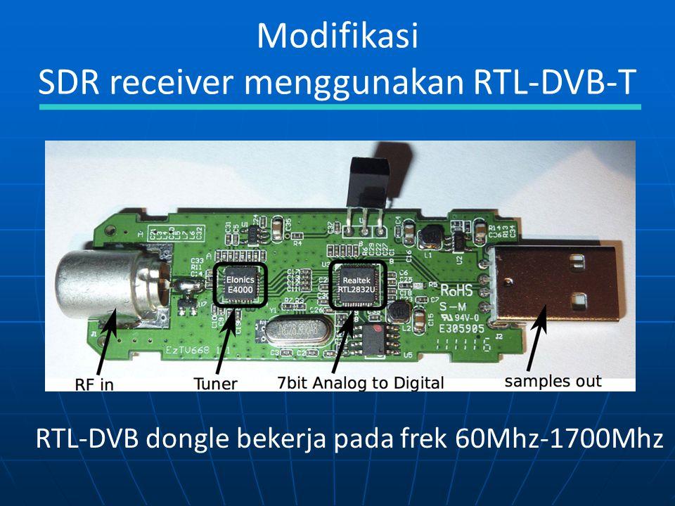 SDR receiver menggunakan RTL-DVB-T