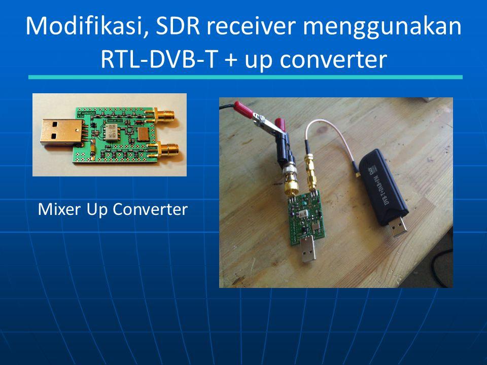 Modifikasi, SDR receiver menggunakan RTL-DVB-T + up converter