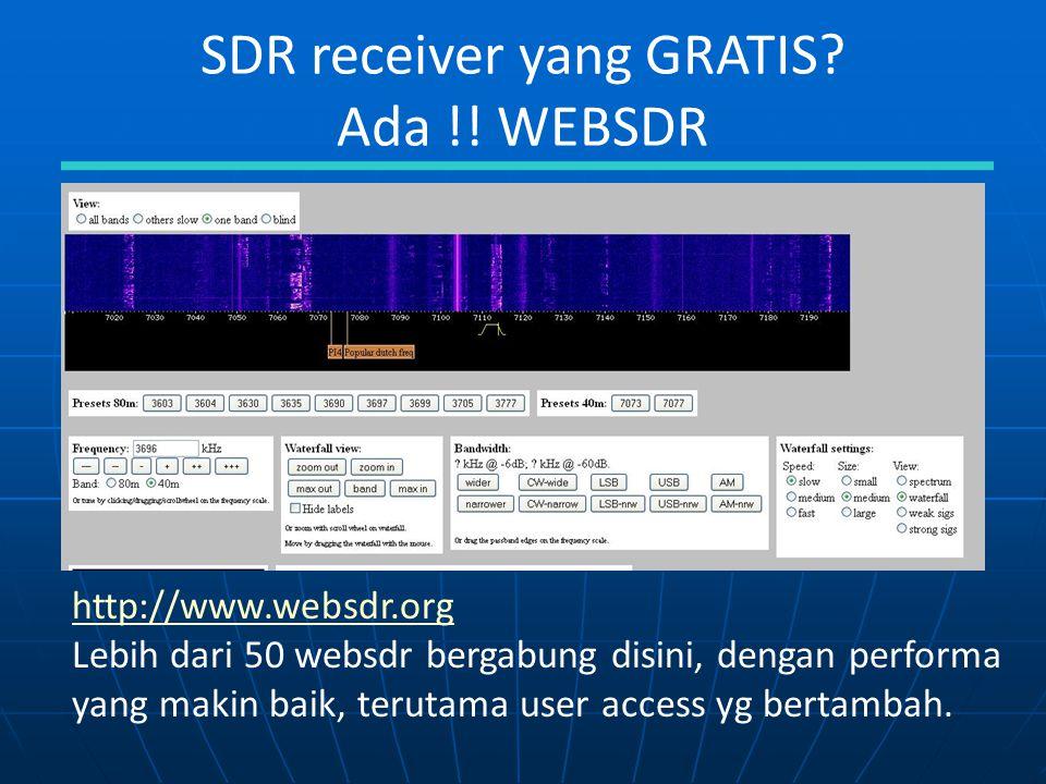 SDR receiver yang GRATIS