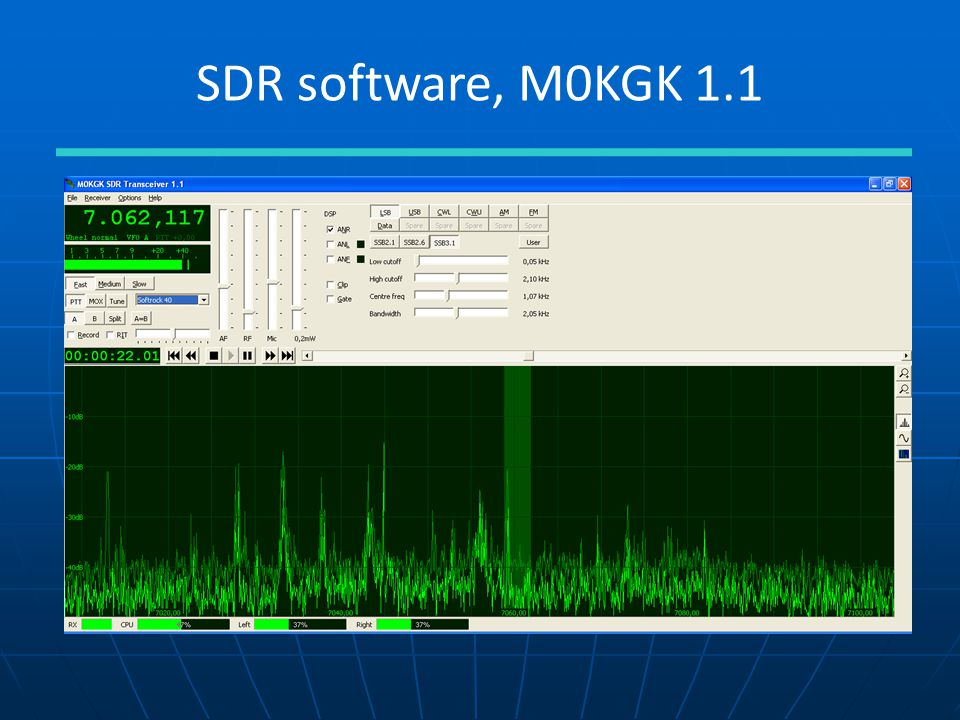SDR software, M0KGK 1.1