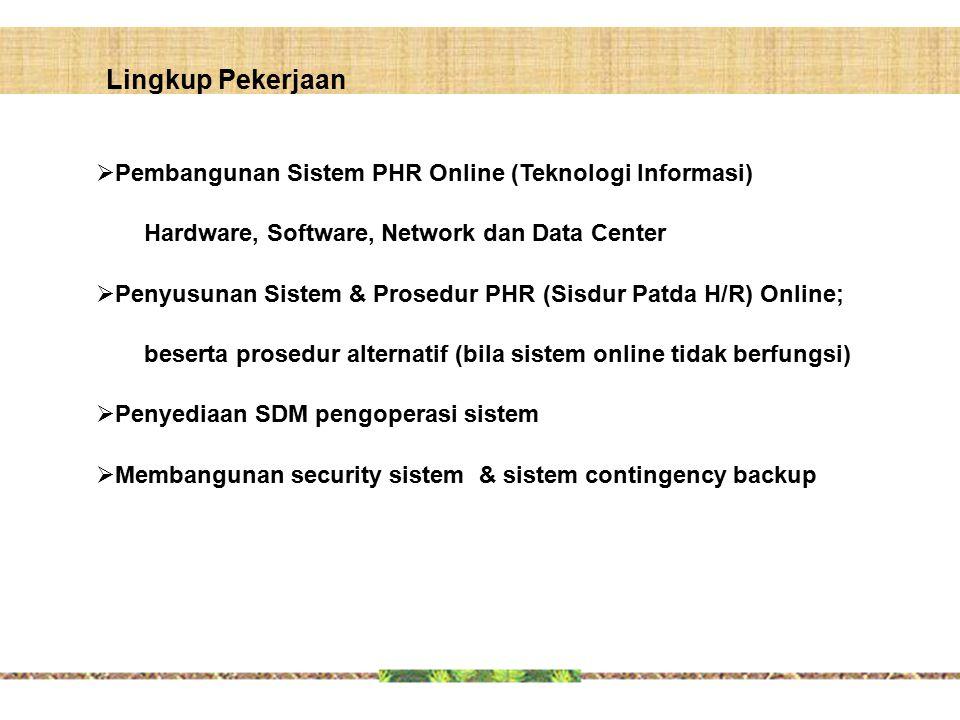 Lingkup Pekerjaan Pembangunan Sistem PHR Online (Teknologi Informasi)