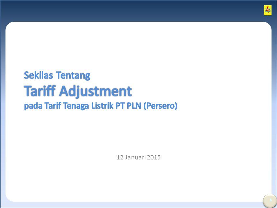 Sekilas Tentang Tariff Adjustment pada Tarif Tenaga Listrik PT PLN (Persero)