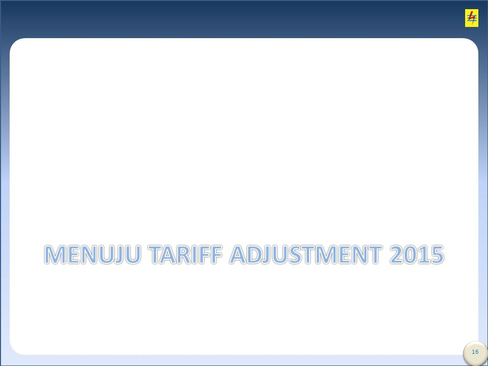 Menuju tariff Adjustment 2015