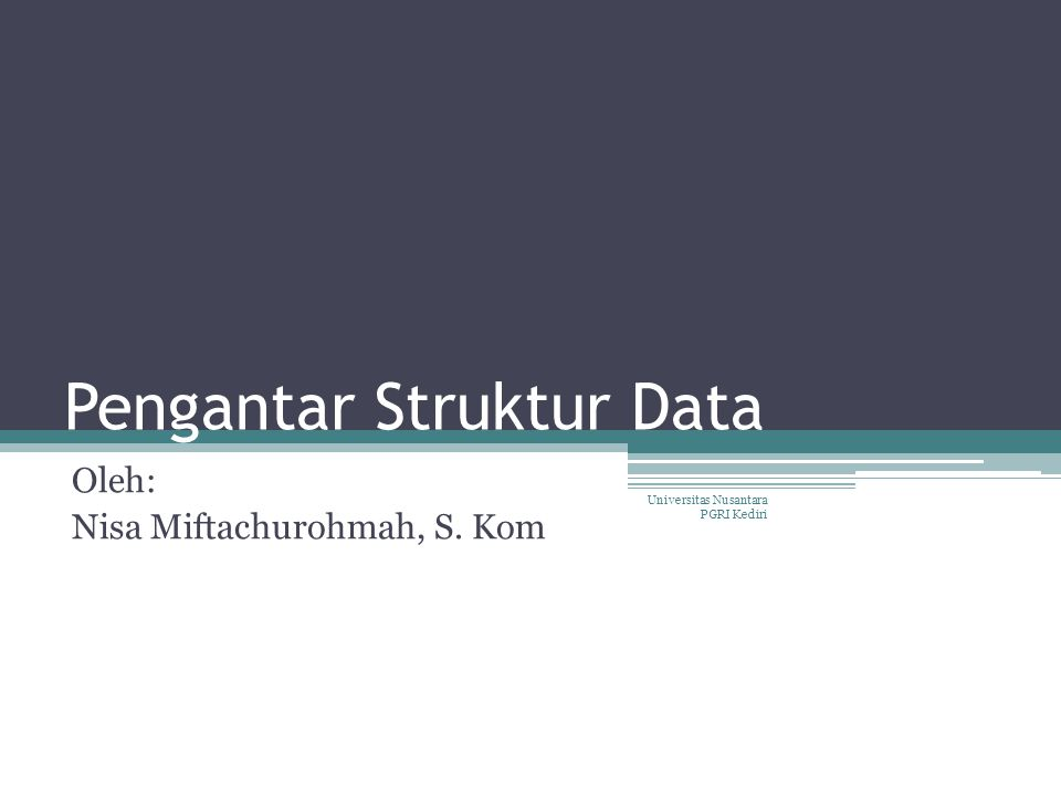 Pengantar Struktur Data