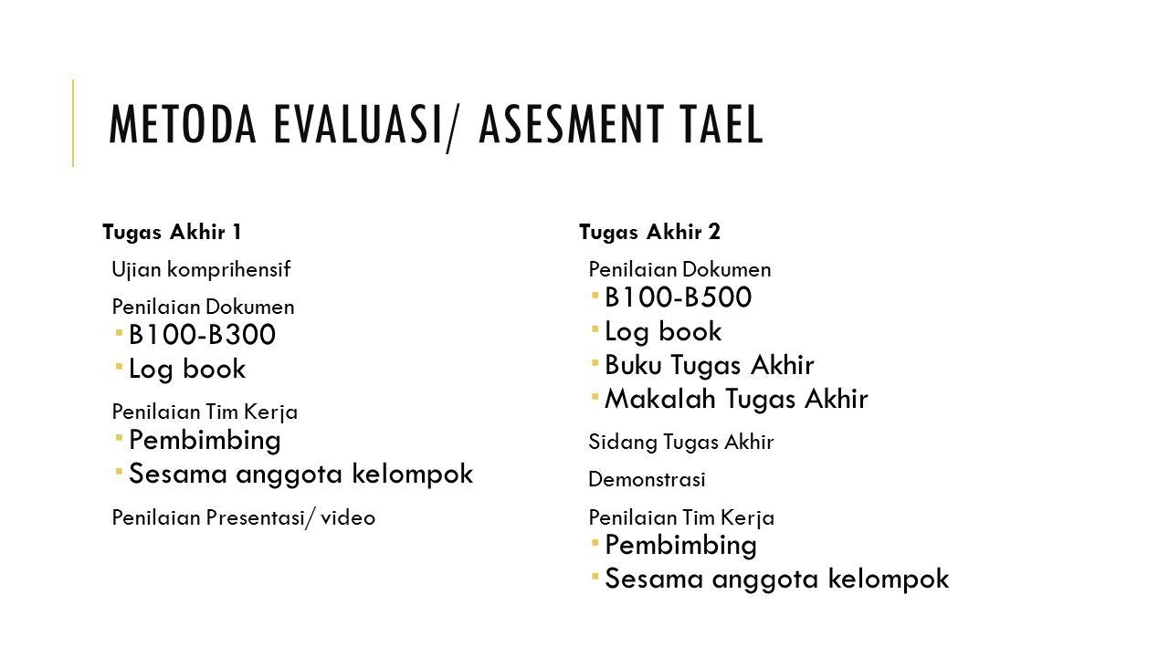 Metoda Evaluasi/ Asesment TAEL