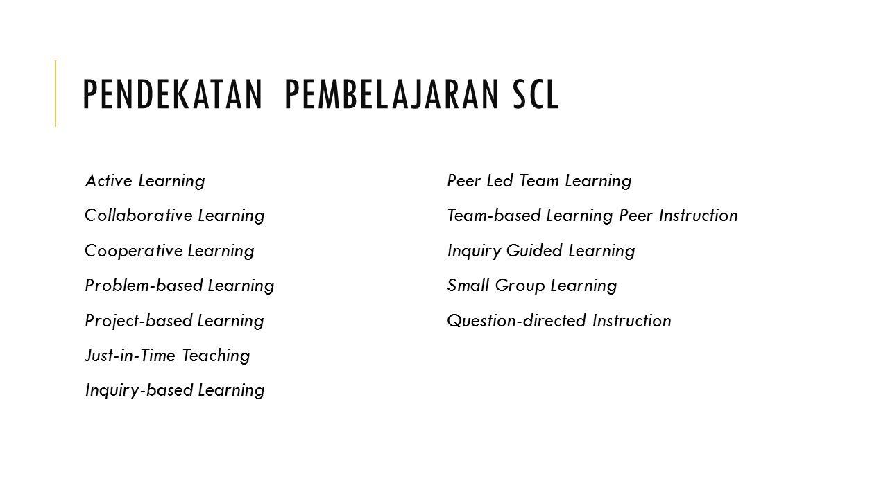 Pendekatan Pembelajaran SCL