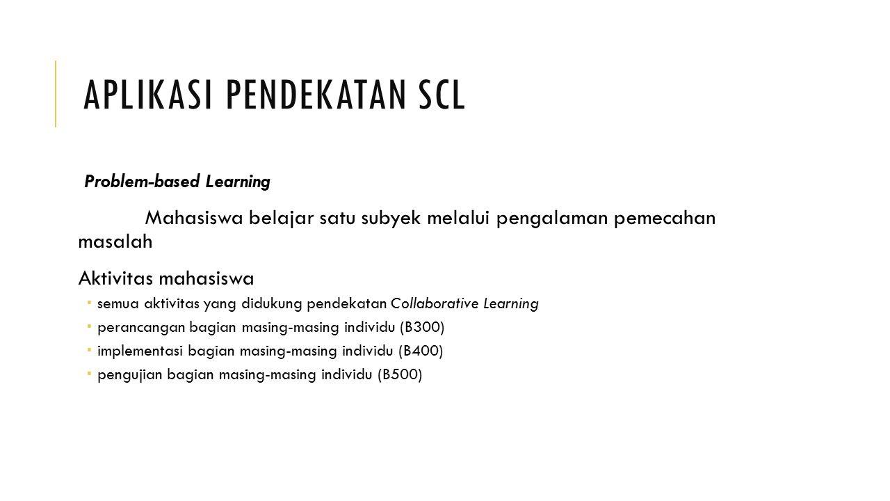 Aplikasi Pendekatan SCL