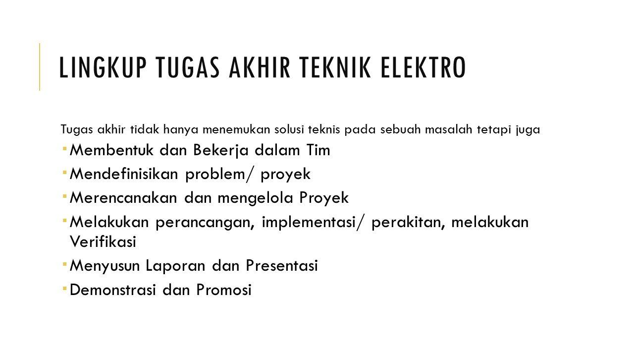 Lingkup Tugas Akhir Teknik Elektro
