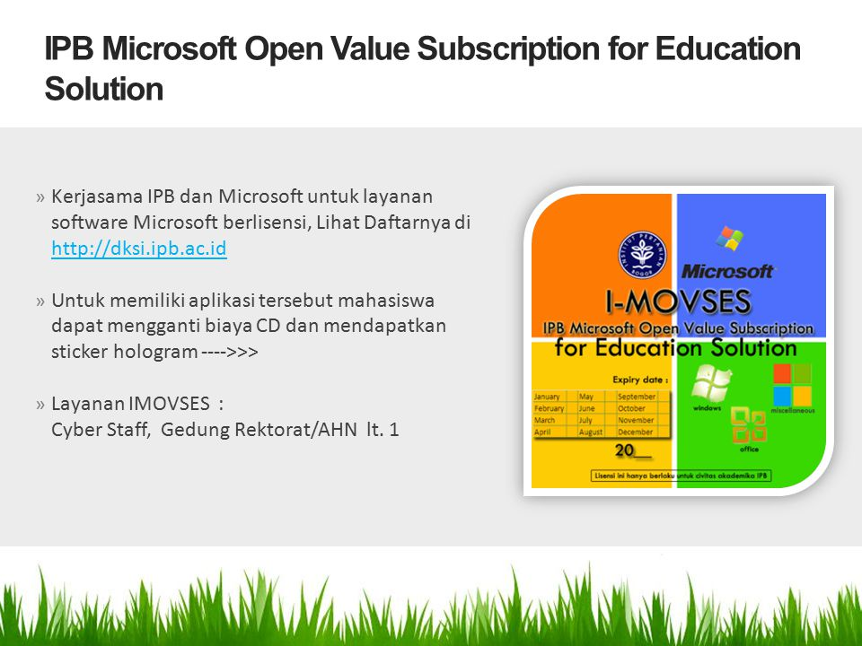IPB Microsoft Open Value Subscription for Education Solution