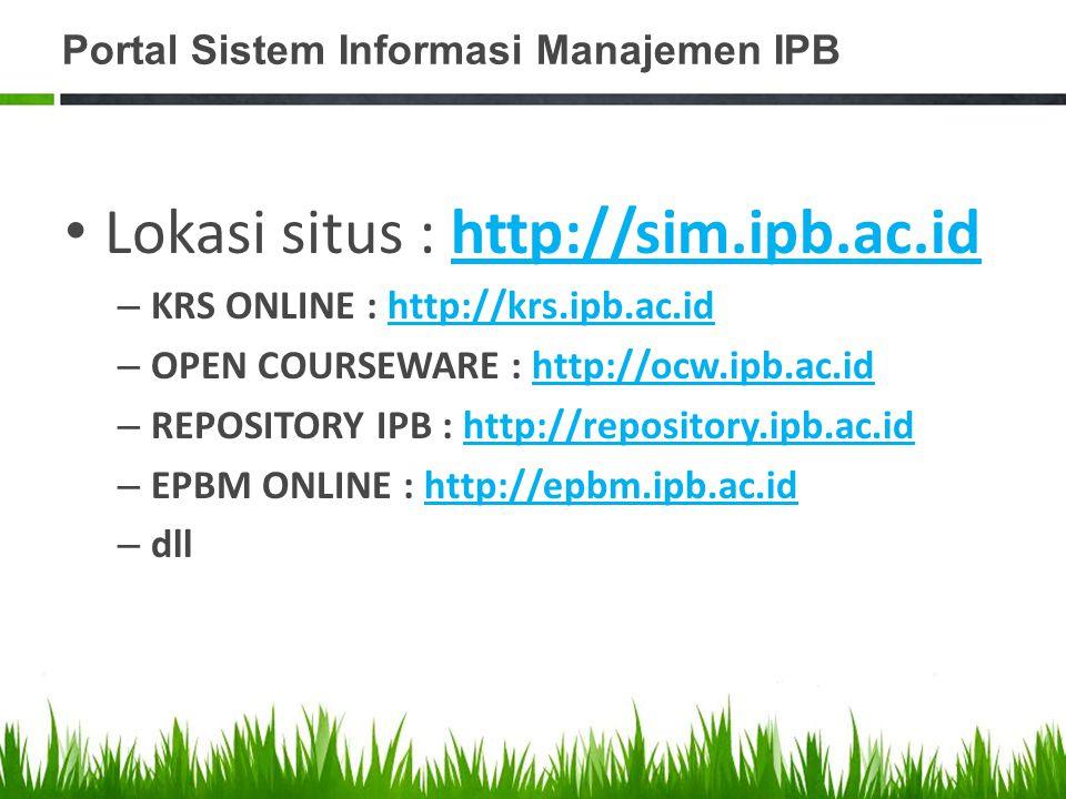 Portal Sistem Informasi Manajemen IPB