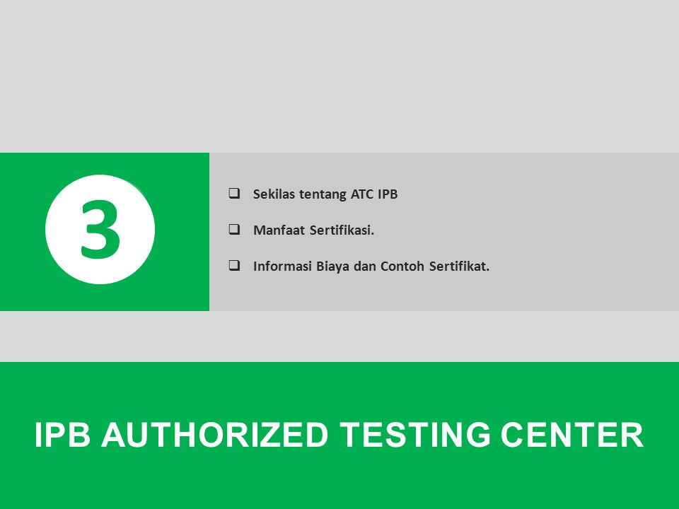 IPB AUTHORIZED TESTING CENTER