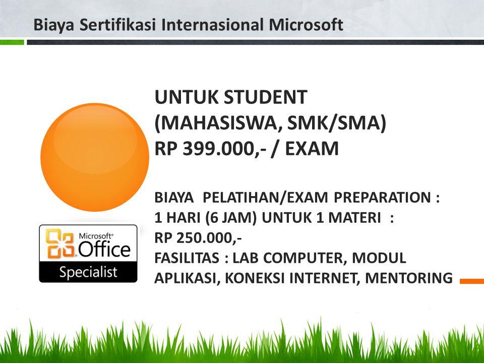 Biaya Sertifikasi Internasional Microsoft