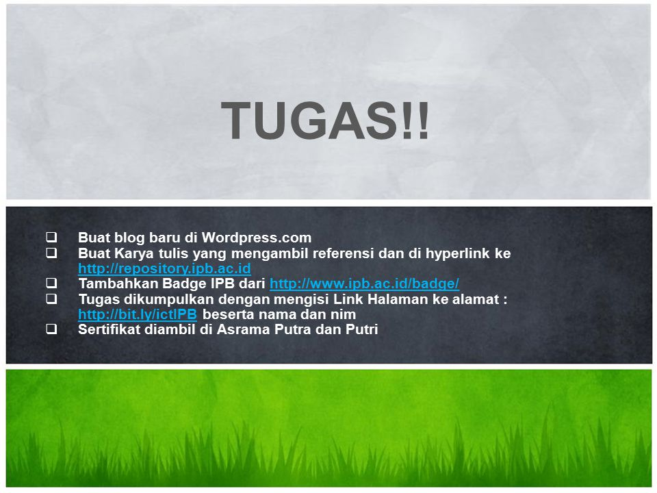TUGAS!! What's Your Message Buat blog baru di Wordpress.com