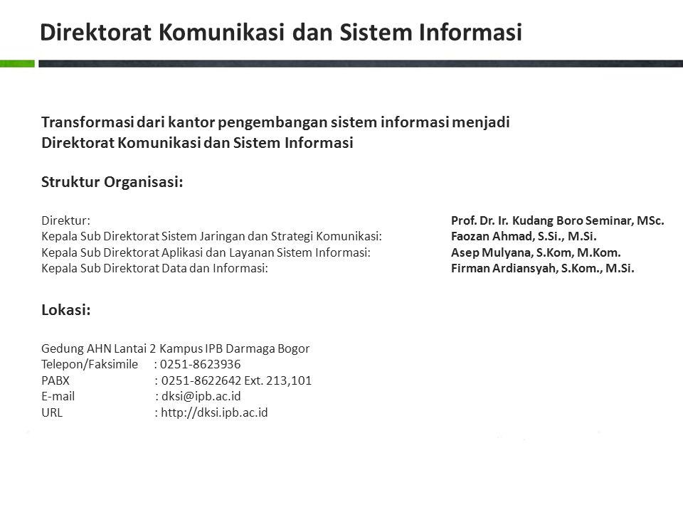Direktorat Komunikasi dan Sistem Informasi