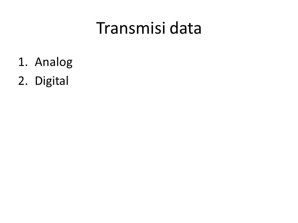 Transmisi data Analog Digital