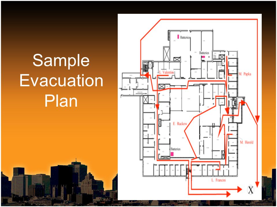 Sample Evacuation Plan