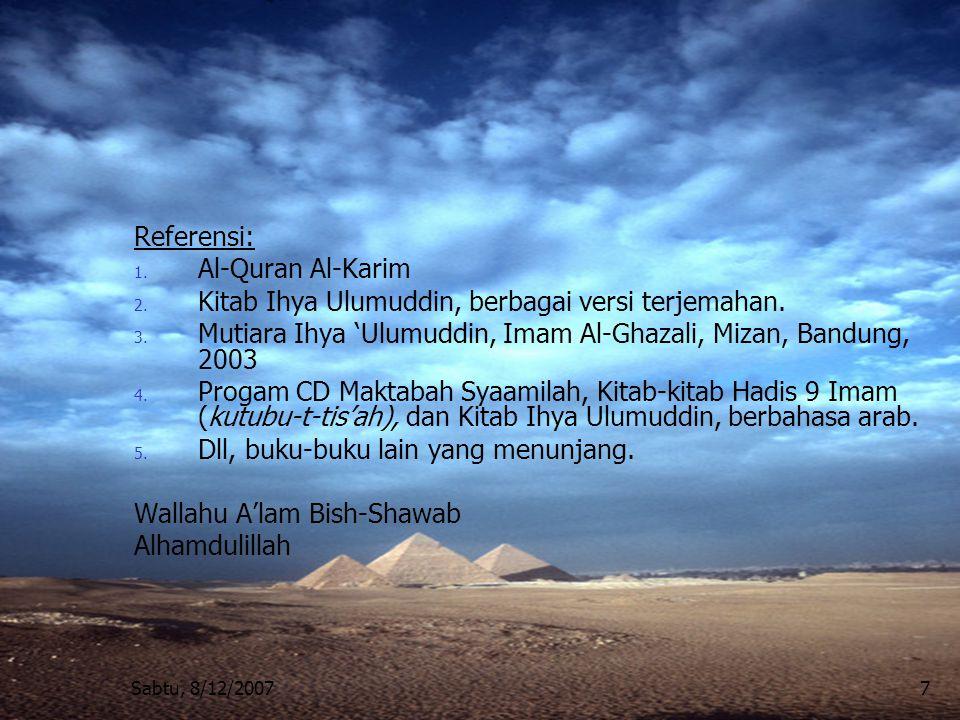 Kitab Ihya Ulumuddin, berbagai versi terjemahan.