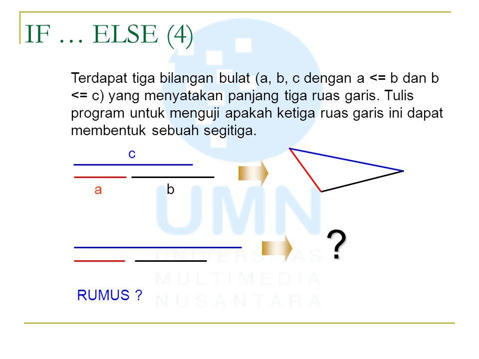 IF … ELSE (4)