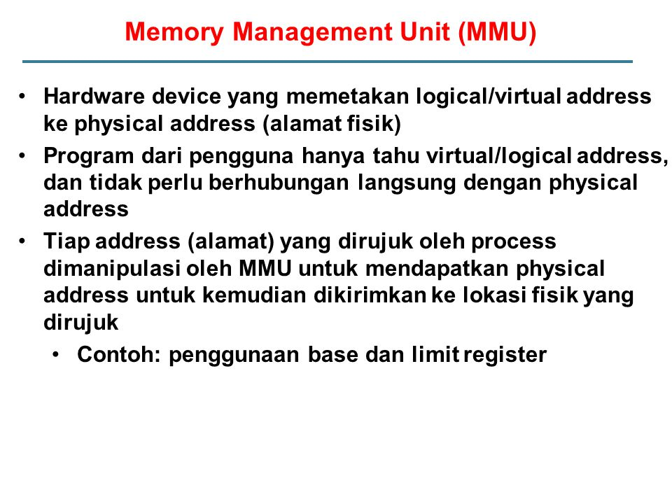 Memory Management Unit (MMU)