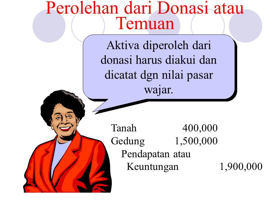 Perolehan dari Donasi atau Temuan