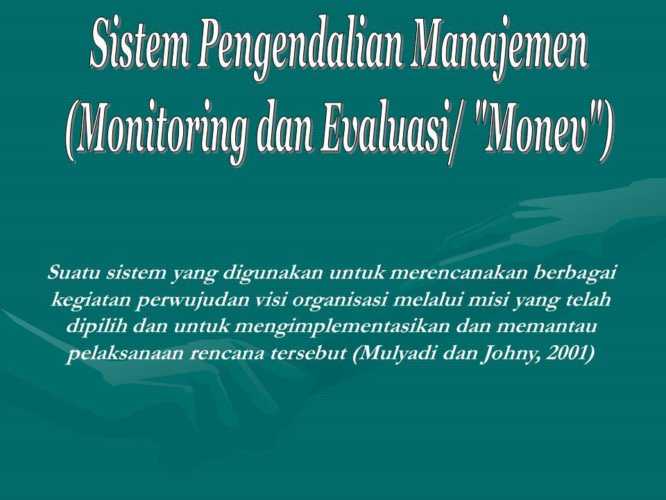 Sistem Pengendalian Manajemen (Monitoring dan Evaluasi/ Monev )