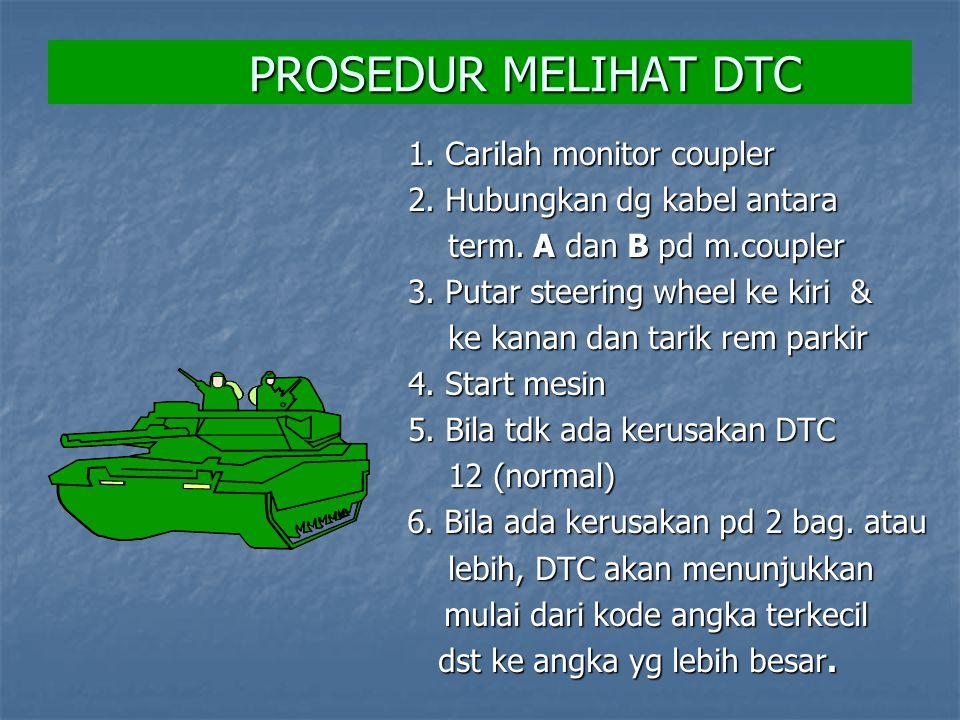 PROSEDUR MELIHAT DTC 1. Carilah monitor coupler