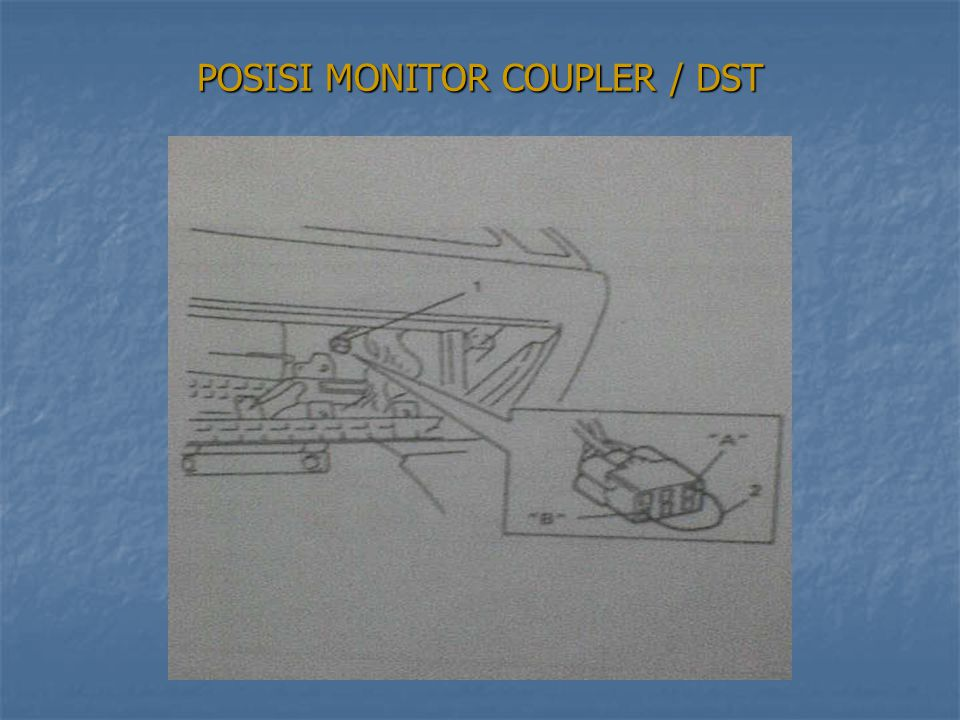 POSISI MONITOR COUPLER / DST