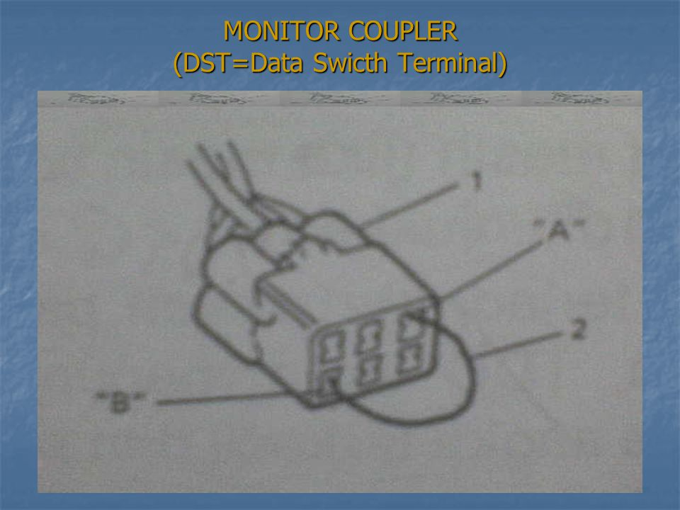 MONITOR COUPLER (DST=Data Swicth Terminal)
