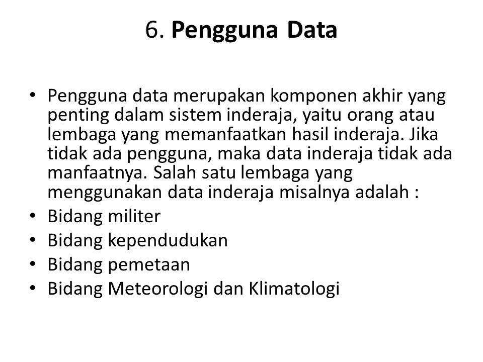 6. Pengguna Data