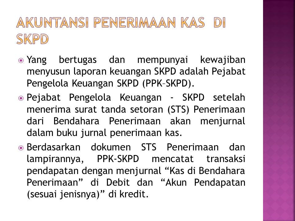 Akuntansi Penerimaan Kas DI SKPD