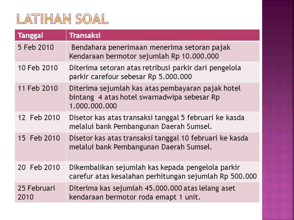 Latihan soal Tanggal Transaksi 5 Feb 2010