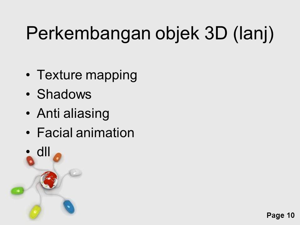 Perkembangan objek 3D (lanj)