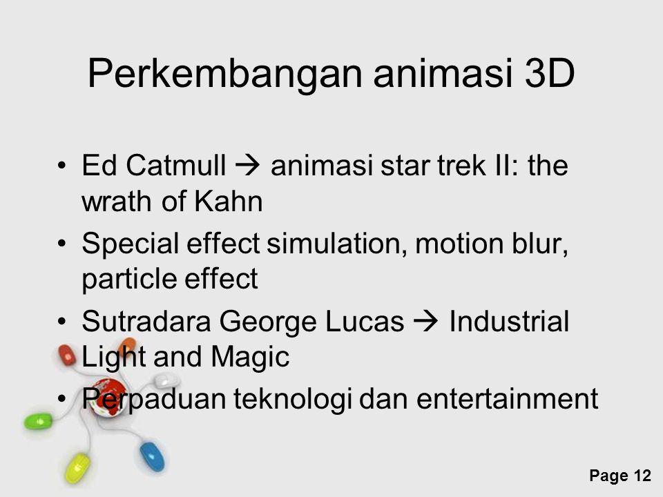 Perkembangan animasi 3D