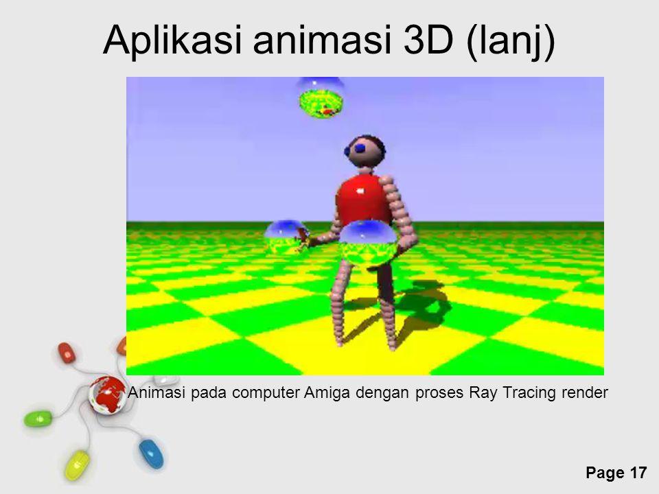 Aplikasi animasi 3D (lanj)