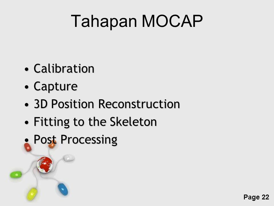 Tahapan MOCAP Calibration Capture 3D Position Reconstruction