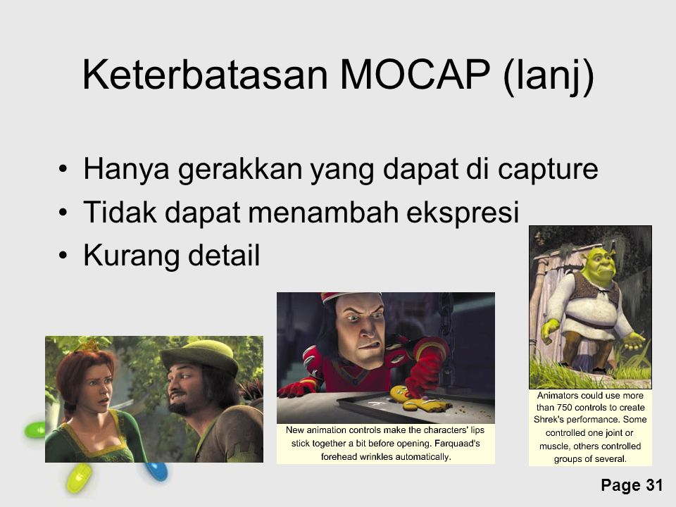 Keterbatasan MOCAP (lanj)