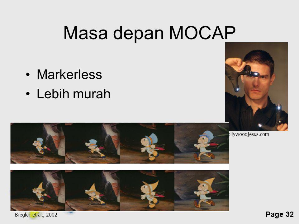 Masa depan MOCAP Markerless Lebih murah hollywoodjesus.com