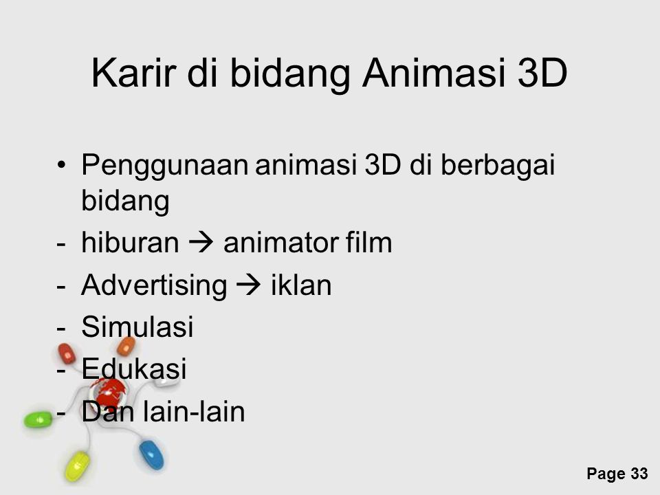 Karir di bidang Animasi 3D